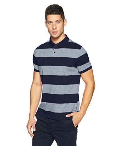 Indian Terrain Men's Striped Regular Fit T-Shirt 2