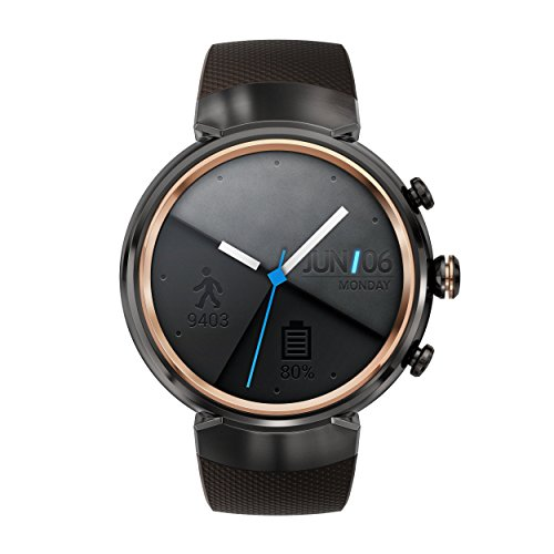 Asus Zenwatch 3 WI503Q-1RGRY0001 Orologio inteligente (3,5 cm (1,39 pollici)), AMOLED, 400 x 400 Qualcomm Snapdragon  2100 512 MB, 4 GB, Android sport, bracciale marrone scuro [Germania]