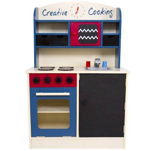 Infantastic - Cocina de juguete de madera, aprox. 60 x 30 x 90 cm