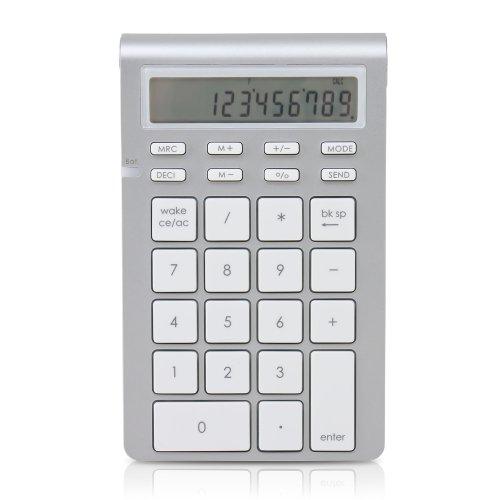 Satechi kabellose Bluetooth 26 Tasten Keyboard und Taschenrechner Tastatur Erweiterung kompatibel mit 2017 iMac, MacBook Pro, MacBook, iPad, iPhone, Dell, Lenovo etc.