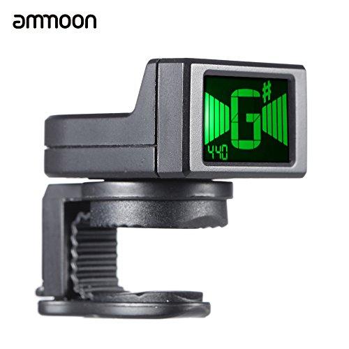 ammoon at-08 Mini Digitale LCD clip-on accordatore per la chitarra elettrica acustica basso Ukulele...
