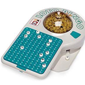 Chicos- Bingo Lotería electrónica con 24 cartones y 90 Bolas imborrables, 22.5 x 37 x 10.5 cm, Incluye fichas de Juego (22302)