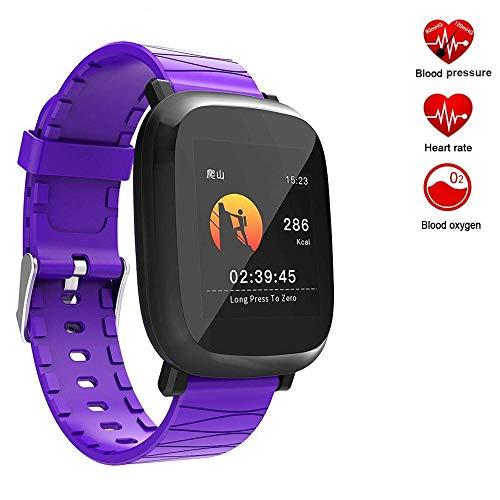 TechCode Reloj de Pulsera, Reloj Deportivo con Monitor de Ritmo cardíaco Paso Calorías Rastreador de Distancia Monitor de sueño IP67 Impermeable SMS SNS Recordatorio para Mujeres, Hombres y niños