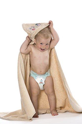 Zollner Kapuzenhandtuch Babyhandtuch aus Baumwolle, karamel (weitere verfügbar), ca. 100x100 cm
