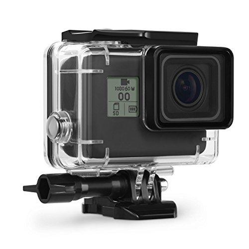 Kupton Custodia Protettiva Impermeabile per GoPro Hero 7Black/(2018) 6/5 Case Subacquea 45m con Attaco Mobile Rapido e Vite per Go PRO Hero7Black/(2018) 6/5 Black