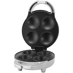 Tristar SA-1122 Cupcake Maker – Vier Cupcakes gleichzeitig – Silberfarbenes Gehäuse