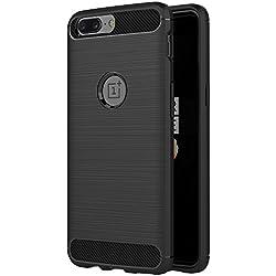 Funda OnePlus 5, AICEK Negro Silicona Fundas para OnePlus 5 Carcasa OnePlus 5 Fibra de Carbono Funda Case (5,5 Pulgadas)