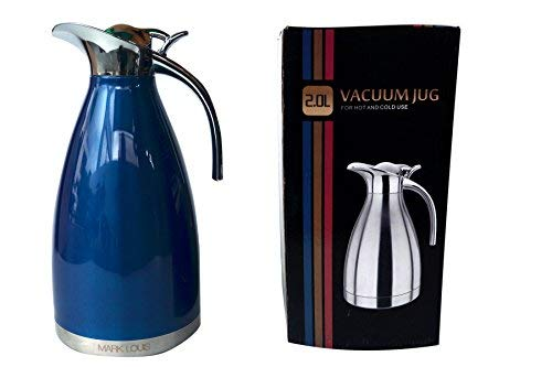 Mark Louis Premium Thermosteel Bottle Jug (Thermosteel Carafe 2 Litre - Blue)
