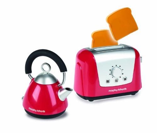 Casdon - Set di tostapane e bollitore Giocattolo di Morphy Richards, Colore: Rosso