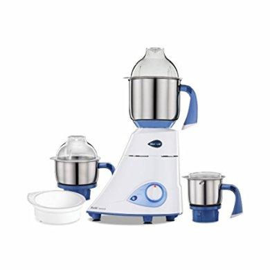 Preethi Blue Leaf Diamond 750-Watt Mixer Grinder with 3 Jars, Blue/White 4