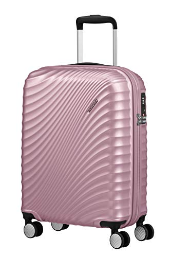 American Tourister Jetglam - Spinner Small Bagaglio a mano, 55 cm, 35.5 liters, Rosa (Metallic Pink)