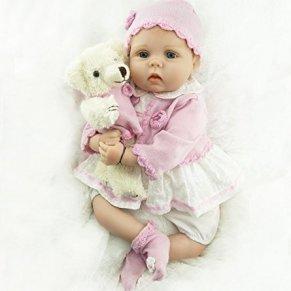 ZIY IUI Reborn Baby Doll Muñeca Renacida Vinilo de Silicona de Simulación Suave 22