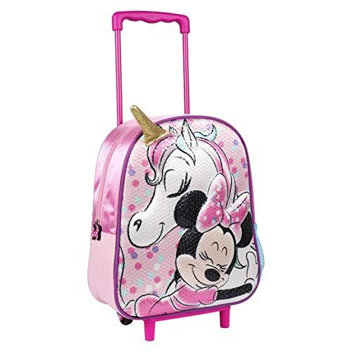 Disney | Minnie Mouse Zaino Borsa 3D | Design Esclusivo Con Paillettes | Ottimo Per Le Vacanze E...