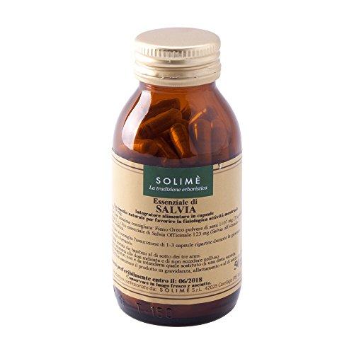 Salvia Integratore in capsule per i disturbi mestruali con Fieno Greco e Olio essenziale di Salvia 100 capsule da 500 mg - Prodotto erboristico made in Italy