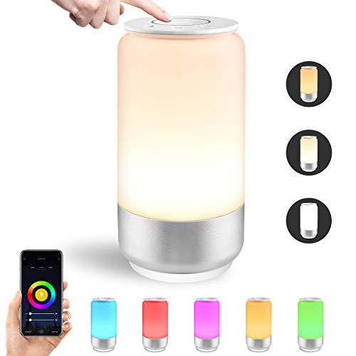 LE Lampada da Comodino Intelligente WiFi, Compatibile con Alexa e Google Home IFTTT, RGB e Bianco...