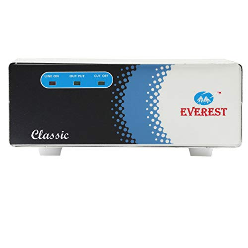 Everest ECC 100 - LED Wide Range Voltage Stabilizer for LED TV Up to 72 Inches,Home Theater,Setup Box,DVD Player (Working Range : 90 V to 290 V)