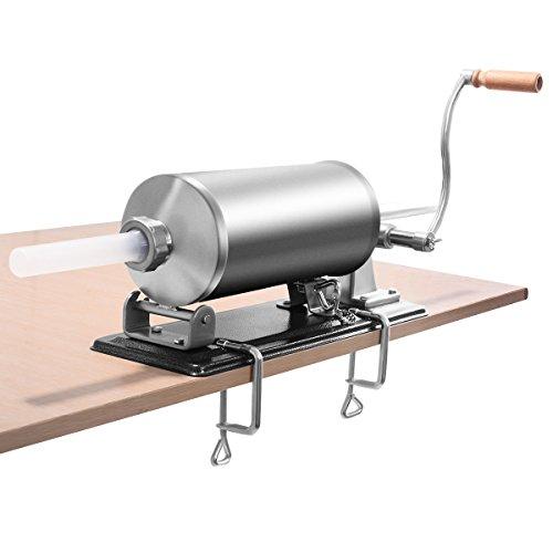 GOPLUS 4,8L Insaccatrice manuale Insaccatrice per salsicce Macchina per salsiccia in Acciaio...