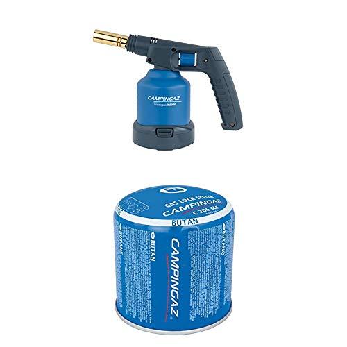 Campingaz Lampe à souder X 2000 + Campingaz 3000002290 Cartouche de Gaz, Bleu, 190 g