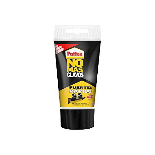 Pattex No Más Clavos Original, adhesivo de montaje resistente, pegamento extrafuerte para madera, metal y más, adhesivo blanco instantáneo, 1 tubo x 150 g