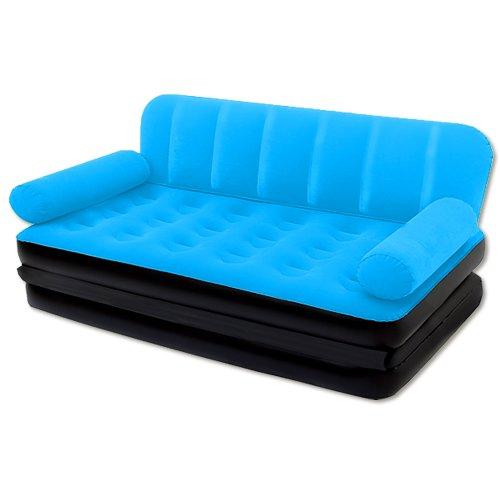 Bestway 3in1 Multifunktionscouch Luftbett Luftmatratze inkl. elektrischer Pumpe - Bett Couch Sessel Blau - 2