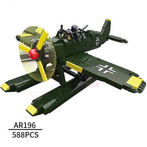 Ingenious Toys II Guerra Mundial Arado Ar 196 Hidroavión/588 Piezas Set Construcción #B3045