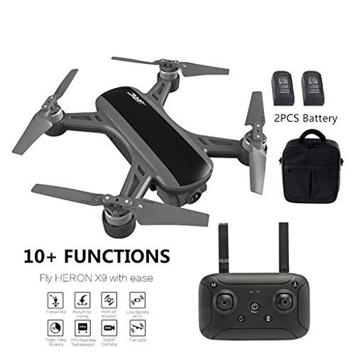 Uav drone-TianranRT JJ-RC Airone X9 GPS 5G WiFi 1080P HD Camera FPV Aircraft Quadcopter Drone + Borsa nuovo fresco creativo,Nero