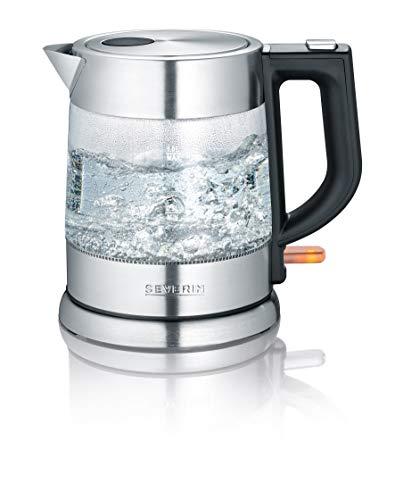 SEVERIN WK 3468 Glas-Wasserkocher (ca. 2.200 W, 1 L) edelstahl/schwarz