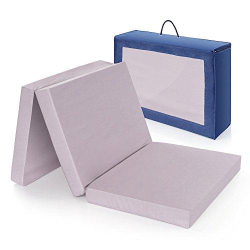 Materasso da viaggio comfort per letto da viaggio ALVI | 60 x 120 cm - Testato privo di sostanze...