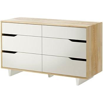 Ikea Mandal Commode 6 Tiroirs Bouleau Blanc 139x79 Cm