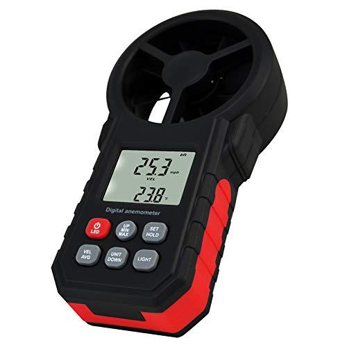 Digitale Vento Paletta Anemometro Aria Velocità Temperatura Tester Metro Valutare Beaufort Scala