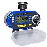 Aqualin Zwei Auslässe Bewässerungscomputer Automatische Zeitschaltuhr Wasser Bewässerungsuhr Wasserdicht