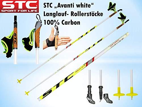 STC Avanti 100{2a7738c0f9a6bf5c33a2bbd0cf6e59e0b08db4b9dc09e756adf349123ddc856e} Carbon Langlaufstock Skating Roller Stöcke Rollski Stöcke Skike (165 cm)