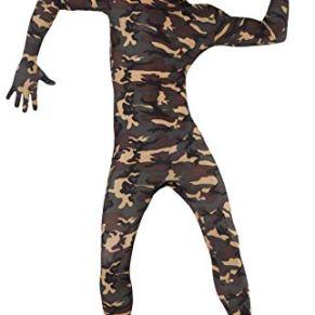 Smiffy's - Disfraz de camuflaje (pegado al cuerpo), talla UK 46 (23685XL)
