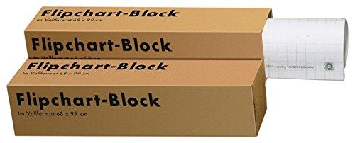 Landre 100050588 - Confezione da 5 blocchi di fogli per lavagna Recycling, 68 x 99 cm, 20 fogli per...