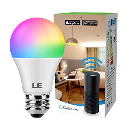 LE Lampadina Intelligente Wifi LED E27 9W Smart Lampadine Colorate Dimmerabile, RGB +...