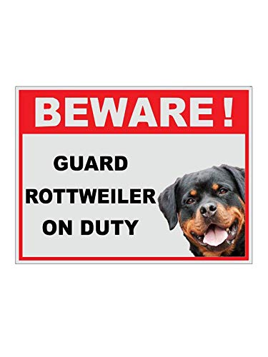 999Store Sign199 Beware of Dogs Sticker Sign Board, Red 30 x 22 cms 4