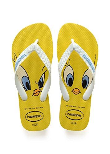 Havaianas Looney Tunes, Infradito Unisex Bambini, Giallo (Citrus Yellow), 33/34 EU
