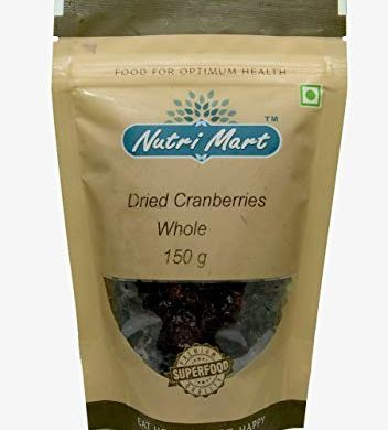 Nutri Mart Dried Cranberries Whole, 150g 10