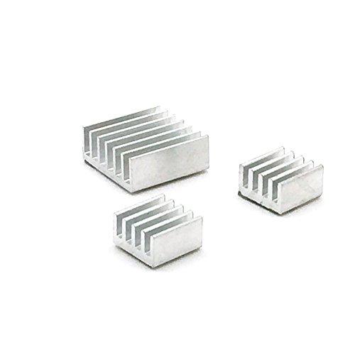 3er passive aluminum heatsink made of aluminum in various sizes for Raspberry Pi B + B And Pi 2...