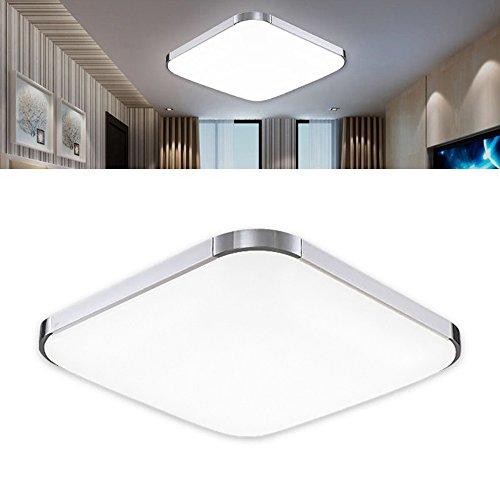 12w led ceiling light 30x30cm ultra thin modern silver - Aerateur salle de bain 12 volts ...