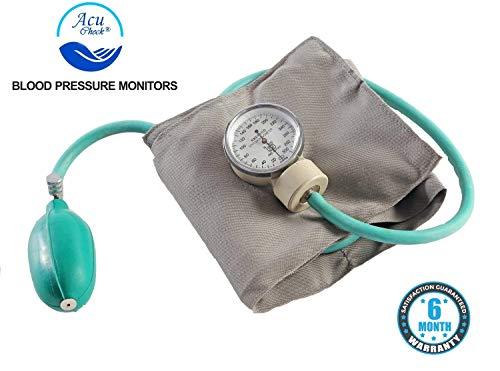 Acu-Check Aneroid Manual Blood Pressure Monitor (Black, Sphygmomanometer)