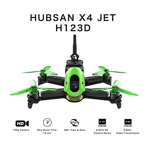 Hubsan H123D X4 Jet Racer Brushless Droni 720P Fotocamera 5.8 GHz FPV 2.4 GHz RC Quadricottero con...