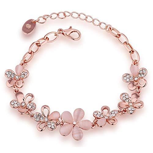 Shining Diva Fashion Charm Bracelet for Girls (Gold)(8306b)