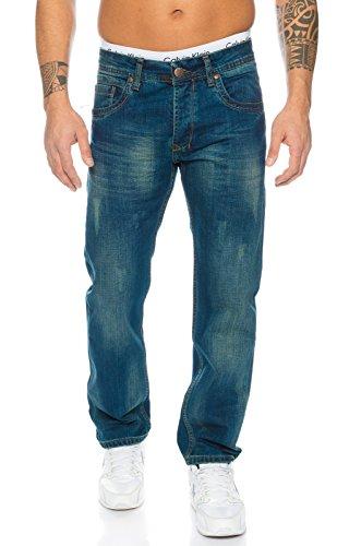 Rock Creek Herren Jeans Blau RC-2103 [W38 L34]