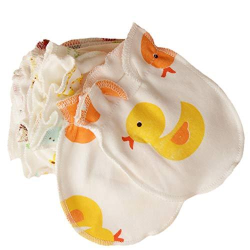 Muffole per neonato bambino antigraffio Cartoon design guanti guanti di cotone morbido,...