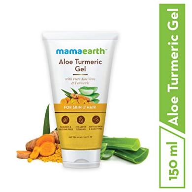 Mamaearth Aloe Vera Gel From 100% Pure Aloe Vera For Face, Skin & Hair with Turmeric & Vitamin E 17