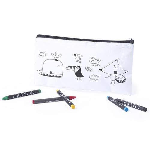 DISOK Lotto di 30 astucci da colorare con 5 Cere Incluse - Pitture Originali per Bambini. Scatole...