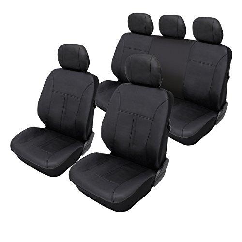 ECD Germany Coprisedili auto universali copertura protezione sedili per auto in pelle artificiale...