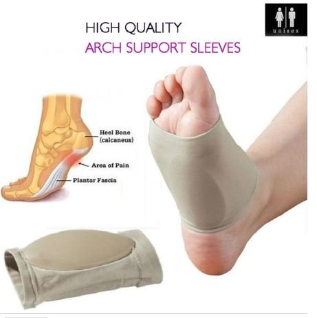 Skudgear Foot Care Plantar Fasciitis Arch Support Sleeve Cushion Heel Spurs Neuromas Flat Feet Orthopedic Pad Orthotic Tool, Free Size - 1 Pair