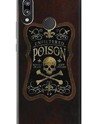 Unfiltered Poison Vintage Glass Bottle Case Cover Custodia per Huawei P20 Lite